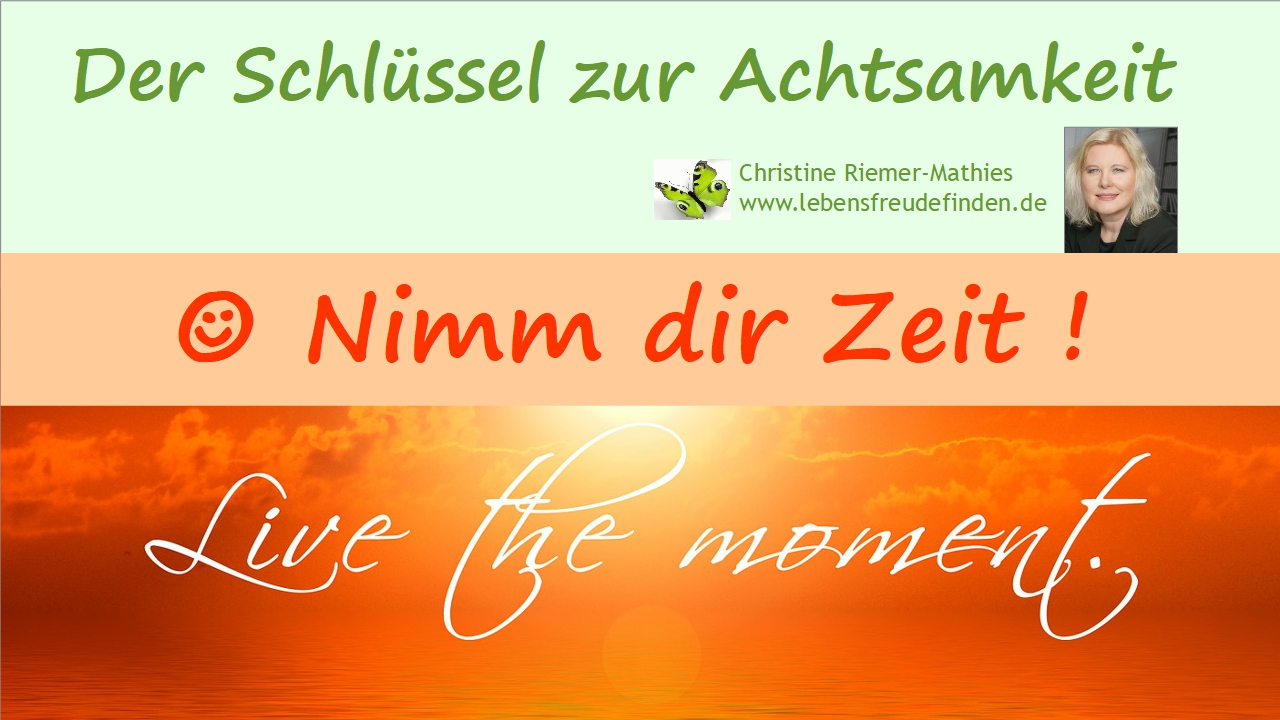 Nimm dir Zeit - Video - Christine Riemer-Mathies