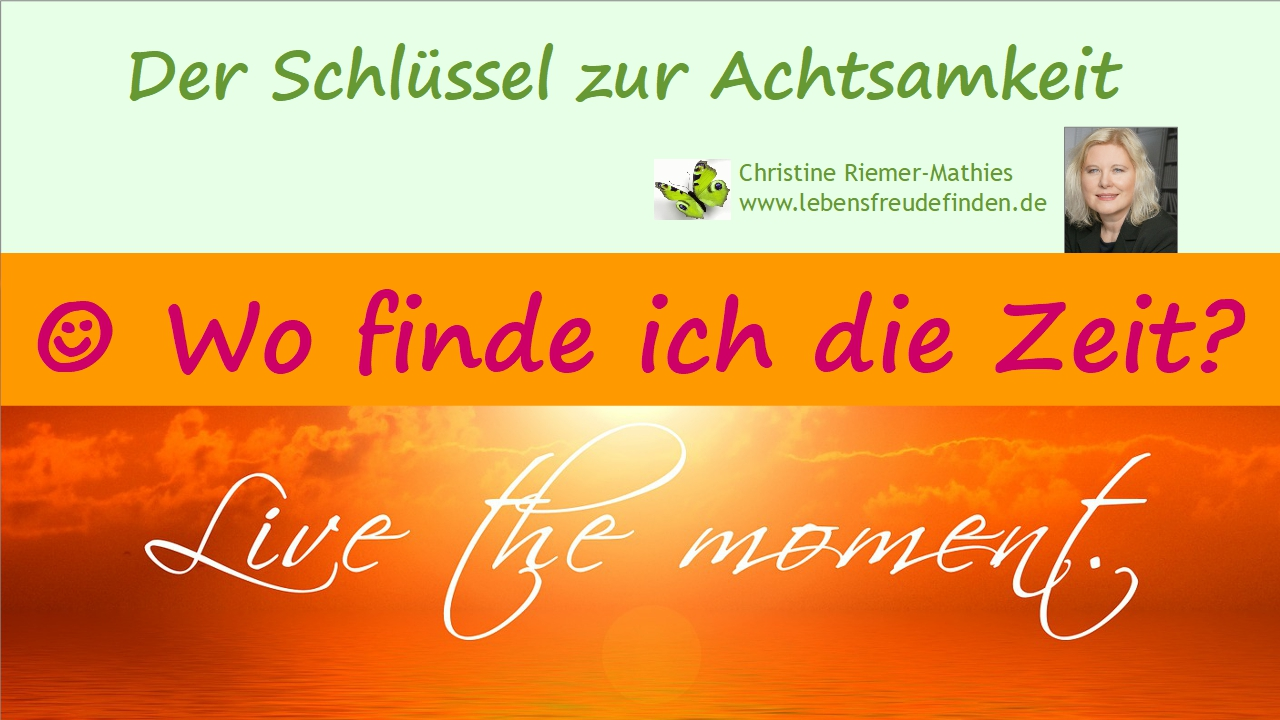 Wo finde ich die Zeit - Video - Christine Riemer-Mathies